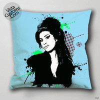 Amy Winehouse art Pillow Case, Chusion Cover ( 1 or 2 Side Print With Size 16, 18, 20, 26, 30, 36 inch )