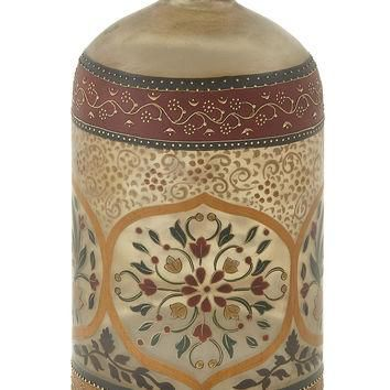 Supremely Beautiful Glass Painted Bottle