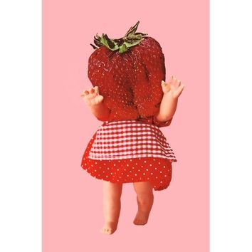 strawberry doll print 8 x 12 LITTLE BERRY MONSTER
