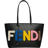 Fendi - Logo Small Multicolor Shearling & Saffiano Leather Roll Bag - Saks Fifth Avenue Mobile