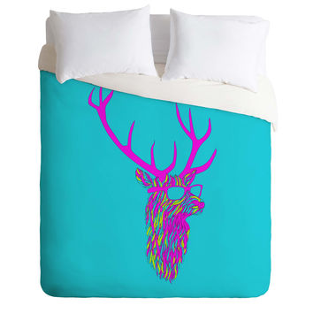 Robert Farkas Party Deer Duvet Cover
