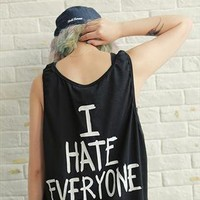 i hate everyone print tee t-shirt from mancphoebe