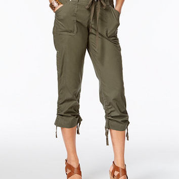 INC International Concepts Curvy-Fit Cropped Cargo Pants, Created for Macy's | macys.com
