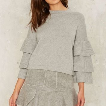 Tier This Ruffle Sweater