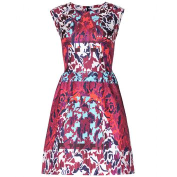 peter pilotto - tri printed silk dress