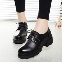 Winter England Style Dr Martens Thick Crust Shoes [9432943818]