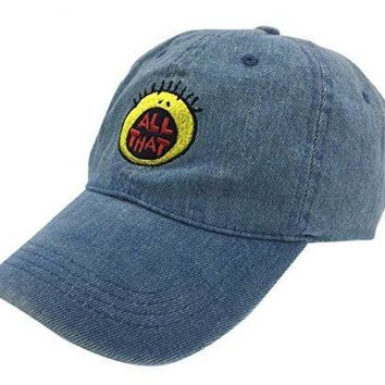 ca auguau All That Hat Dad Cap 90s Baseball Adjustable Snapback Denim