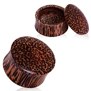 Organic Coconut Wood Stash Saddle Plug