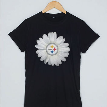 Pittsburgh Steelers Daisy T Shirt Women Men And Youth Size S to 3XL