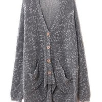 # Free Shipping # Women Loose Knitting Cardigans One Size QZ0015 from ViwaFashion