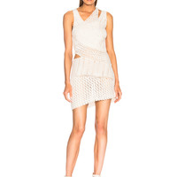 JONATHAN SIMKHAI for FWRD Pearl Crochet Mini Dress in White | FWRD