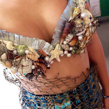 Mermaid Seashell Sea Bra by DaisyBand on Etsy