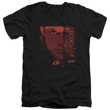 Dexter - Normal Short Sleeve Adult V Neck