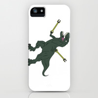 Unstoppable T-rex iPhone & iPod Case by DanielBergerDesign