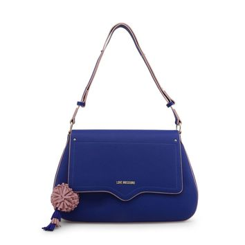 Love Moschino Blue Magnetic Fastening Shoulder Bag