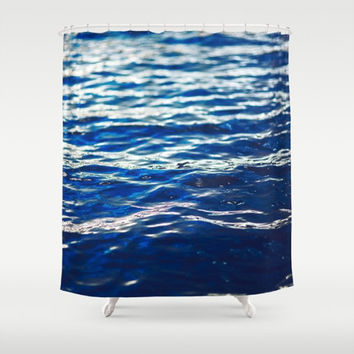 Shower Curtain, Ocean Shower Curtain, Ocean Seascape Waves  Beach, Nautical Bathroom Decor, Coastal Decor, Bohemian, Home Decor