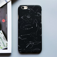 Fashion Stars Sky Constellation Cover Moon Space Splice Coque Slim Hard Phone Cases Cover For iPhone 7 7Plus 5 5G 5S 6 6S 6Plus