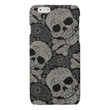 Day of the Dead Sugar Skull Glossy iPhone 6 Case