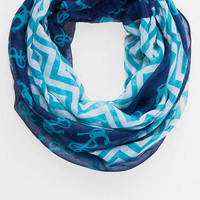 MARINA ANCHOR & CHEVRON LOOP SCARF