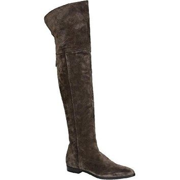 Prada Women's Suede Leather Thigh High Boots Shoes