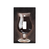 Dark Beer in Tulip Glass Porter Stout Painting Art Switch Plate Cover