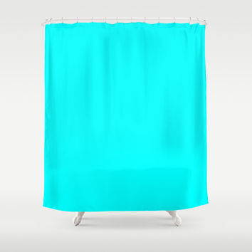 Aqua Shower Curtain by Beautiful Homes