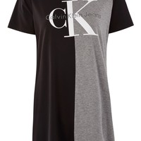 Colour Block Logo T-Shirt by Calvin Klein | Topshop