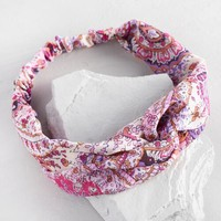 Purple and Pink Paisley Headband