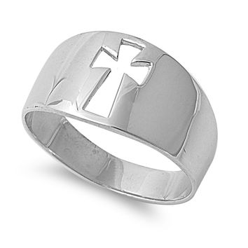 925 Sterling Silver Cross of Forgiveness Ring