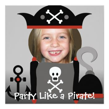 Pirates Girl Party Like a Pirate Brithday Invites