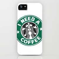 I need a coffee! iPhone & iPod Case by John Medbury (LAZY J Studios)