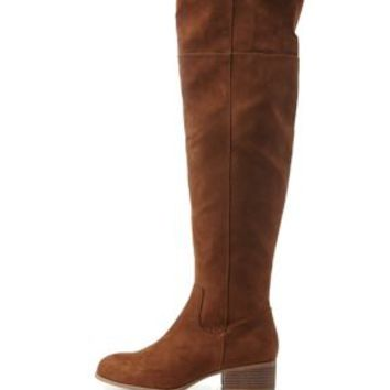 Chestnut Flat Over-the-Knee Boots by Charlotte Russe