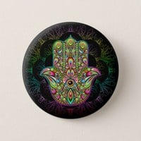 SOLD! Hamsa Hand Psychedelic Buttons & Posters | Thank You!