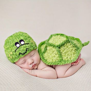 Newborn Baby Clothes Girls Boys Crochet Knit Costume Photo Photography Prop Accessories Rabbit Baby Caps Hats roupa de  boy