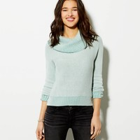 AE CROPPED COWL SWEATER