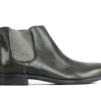 Brunello Cucinelli Womens Distressed Green Chelsea Ankle Boots