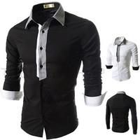 Designer Trim Slim Fit Men's Fashion Dress Shirt