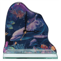 Dolphin In Coral World Clock