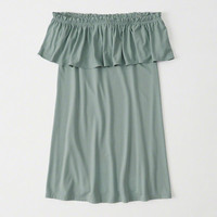 Womens Ruffle Off-The-Shoulder Dress | Womens New Arrivals | Abercrombie.com