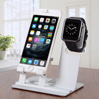 Multifunctional Mini Assembled Display   Charging Holder for iPad   iPhone   Apple Watch - Sliver