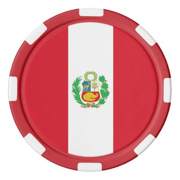 Poker chips with Flag of Peru