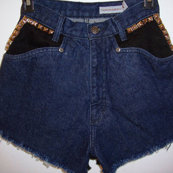 Vintage Two Tone Super High Waisted Shorts by BohoJane on Etsy