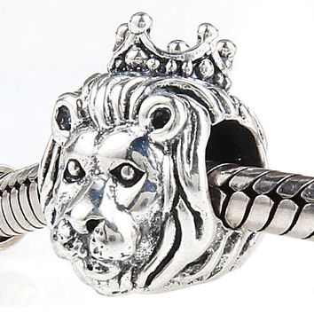 Original 925 sterling silver lion charms beads diy jewelry Fits for Pandora Bracelets free shipping
