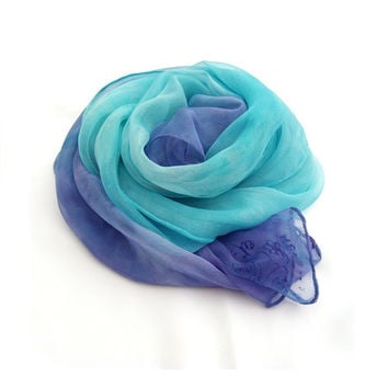 Ombre Fashion  hand painted silk scarf