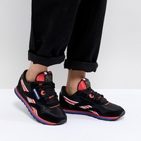 Reebok X P.E Nation Classic Nylon Trainers In Black at asos.com