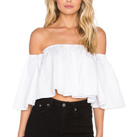 n / nicholas Off Shoulder Elastic Top in White