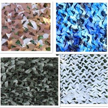 Free Shipping 1.5X2M Various Color Camouflage Net Camo Camping Sun Shade Tent Military Photography Party Decoration