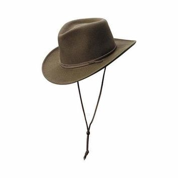 Men's Scala DF55EL Safari Hat with Earlap Khaki