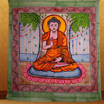 Large Buddha Tapestry, Buddha Tapestry Wall Hanging, Tapestries,Hippie Tapestry, Cotton Bed cover, Bed Sheet, Throw, Decorative Art
