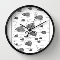 Similarity (underwater, shoaling, schooling)  Wall Clock by Condor